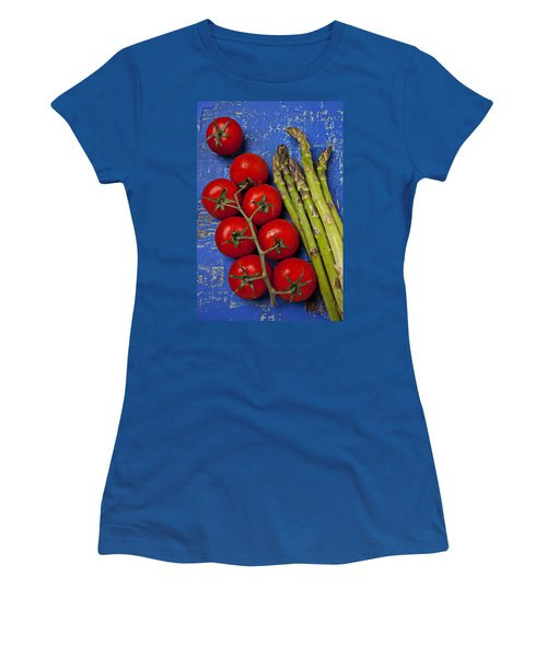 Tomatoes And Asparagus  Women's T-Shirt (Junior Cut) by Garry Gay