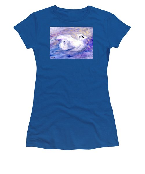 Women's T-Shirt (Junior Cut) featuring the painting Transformation by Gail Kirtz
