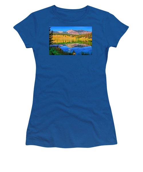 Trout Lake Women's T-Shirt (Junior Cut) by Greg Norrell