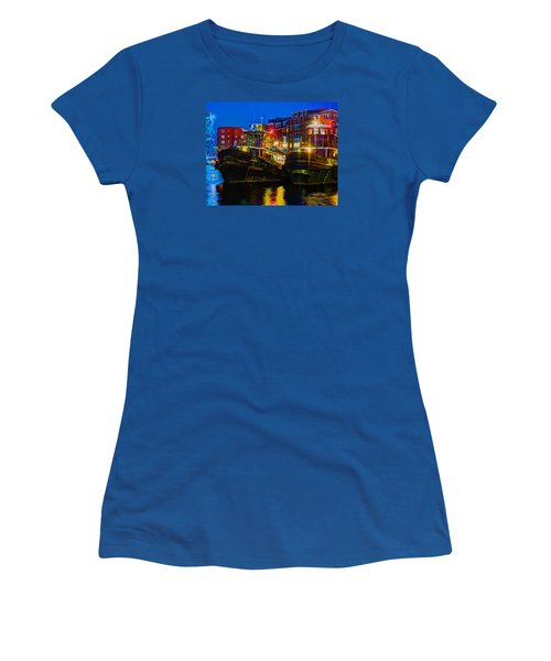 Tug Boat Alley 026 Women's T-Shirt (Athletic Fit)