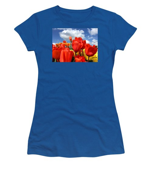 Tulips In The Sky Women's T-Shirt (Athletic Fit)
