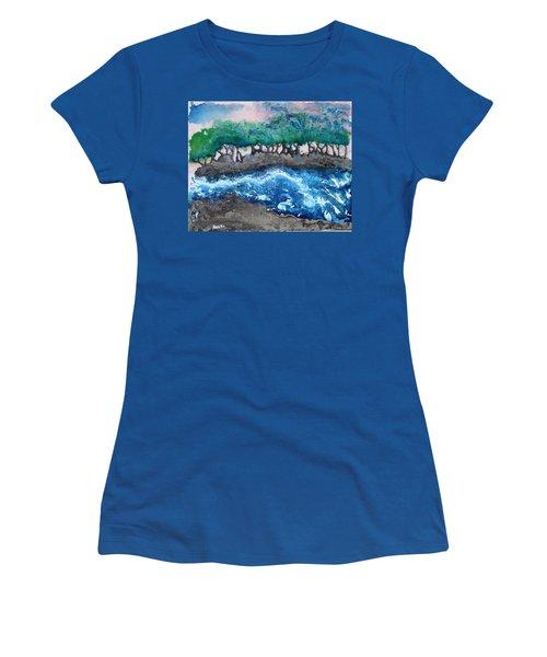 Turbulent Waters Women's T-Shirt (Junior Cut) by Antonio Romero