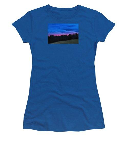 Twilight Field Women's T-Shirt (Junior Cut) by Tom Singleton