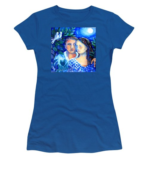 Two Turtle Doves  Women's T-Shirt (Junior Cut) by Trudi Doyle