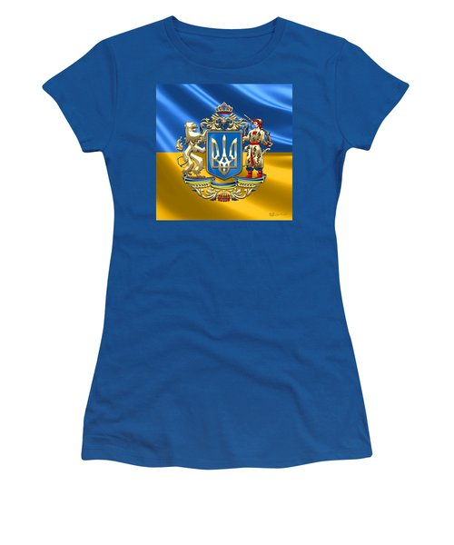 Ukraine - Greater Coat Of Arms  Women's T-Shirt (Junior Cut) by Serge Averbukh