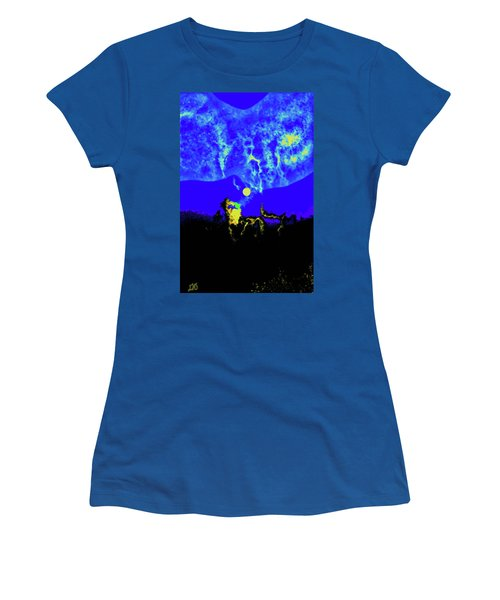Under A Full Moon Women's T-Shirt (Athletic Fit)