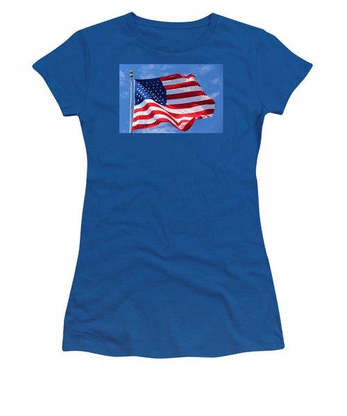 United States Flag Women's T-Shirt (Junior Cut) by Elizabeth Budd
