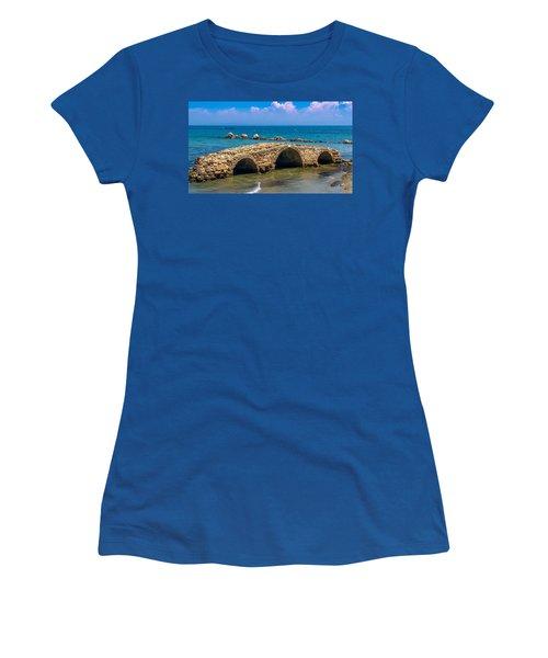 Venitian Bridge Argassi Women's T-Shirt (Junior Cut) by Rainer Kersten