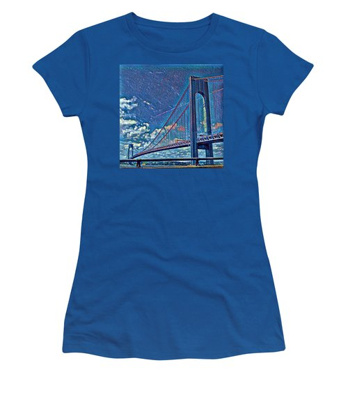 Verrazano Bridge Women's T-Shirt (Athletic Fit)