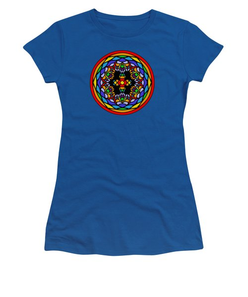 Vibrant Pattern Orb By Kaye Menner Women's T-Shirt (Junior Cut) by Kaye Menner