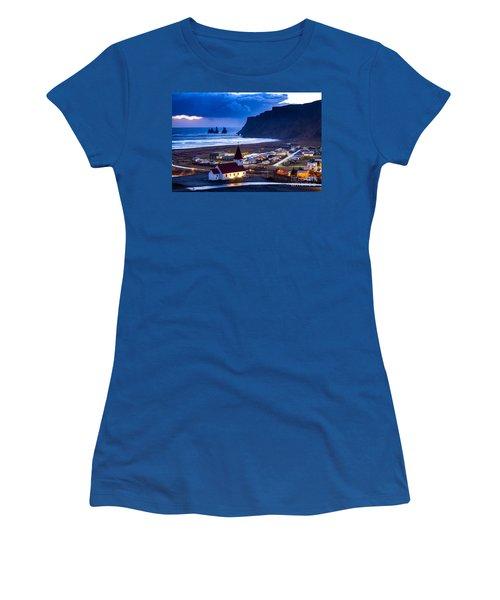 Vik Iceland Women's T-Shirt (Junior Cut) by Mariusz Czajkowski