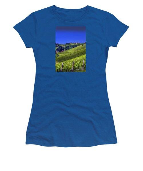 Vineyards Of Jerusalem Slovenia Women's T-Shirt (Junior Cut) by Graham Hawcroft pixsellpix