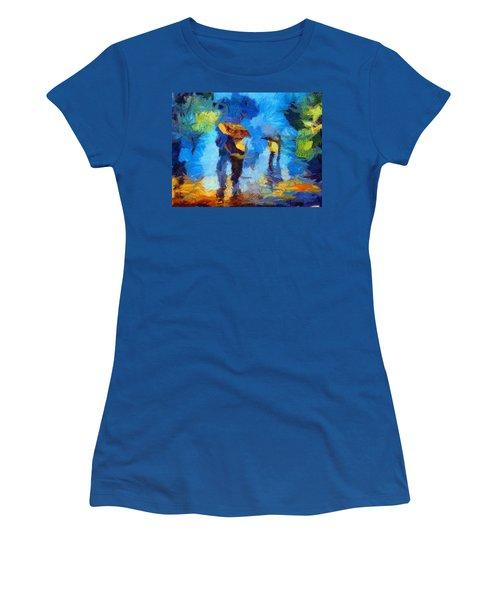 Walking In The Rain Women's T-Shirt