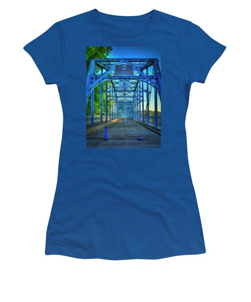 Walking Tall Walnut Street Pedestrian Bridge Art Chattanooga Tennessee Women's T-Shirt (Athletic Fit)
