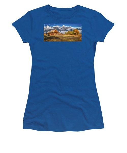 Warm Morning Light In The Tetons Women's T-Shirt