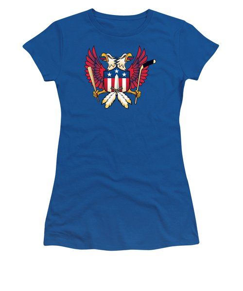 Washington Dc-double Eagle Sports Fan Crest Women's T-Shirt (Athletic Fit)