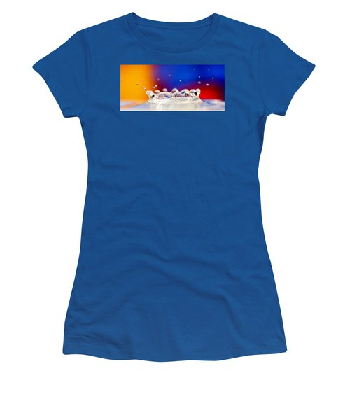 Women's T-Shirt (Junior Cut) featuring the photograph Water Drop by Colin Rayner