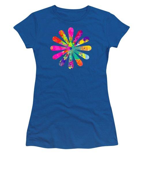 Watercolor Flower 2 - Tee Shirt Design Women's T-Shirt (Junior Cut) by Debbie Portwood