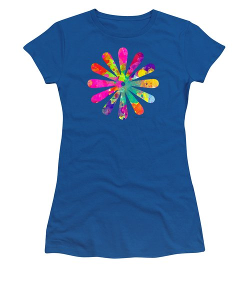 Watercolor Flower 2 - Tee Shirt Design Women's T-Shirt (Athletic Fit)