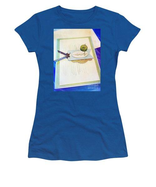 Welcome New Baby Handmade Stationary Women's T-Shirt (Junior Cut) by Vizual Studio
