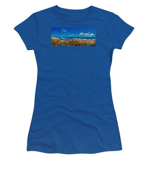 Women's T-Shirt (Junior Cut) featuring the photograph Western Australia Beach Panorama by David Zanzinger
