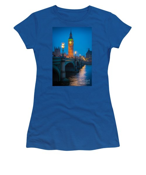Westminster Bridge At Night Women's T-Shirt
