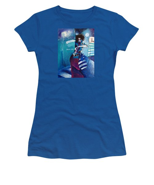 Women's T-Shirt (Junior Cut) featuring the painting What Time Is It by Maya Manolova