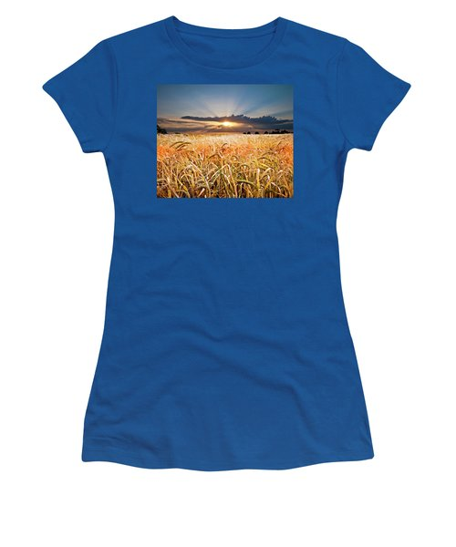 Wheat At Sunset Women's T-Shirt