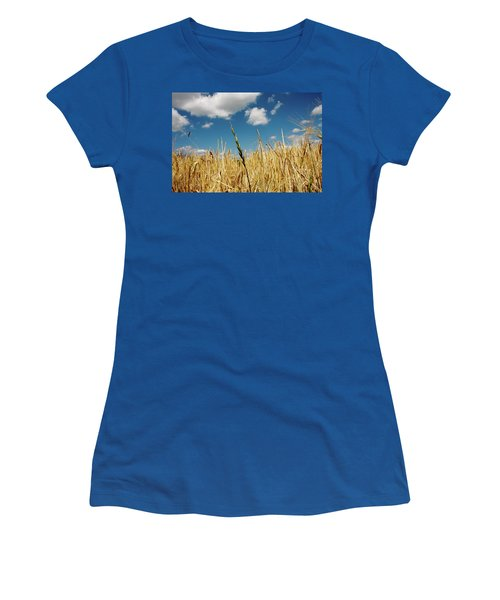 Women's T-Shirt (Junior Cut) featuring the photograph Wheat On The Rhine by KG Thienemann
