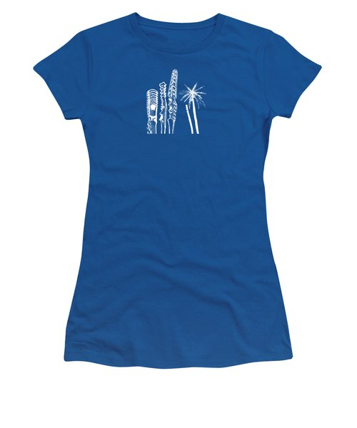 white lines on transparent background - detail -10.4.Islands-1-detail-b Women's T-Shirt (Athletic Fit)