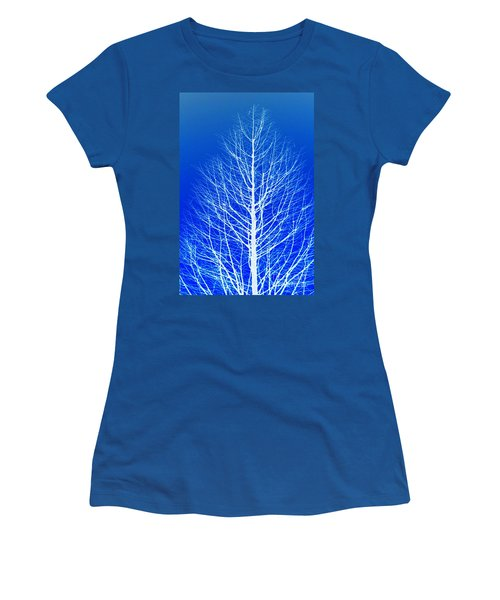 Winter Tree Women's T-Shirt (Junior Cut) by Donna Bentley
