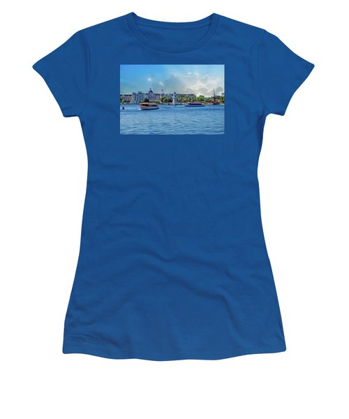 Yacht And Beach Club Walt Disney World Women's T-Shirt (Athletic Fit)