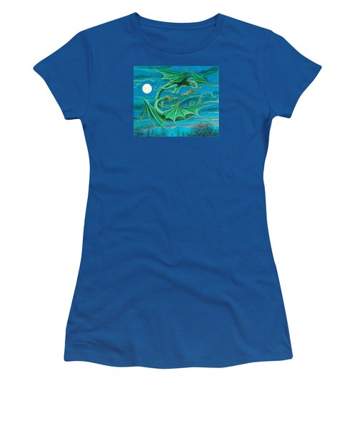 Young Dragons Frisk Women's T-Shirt (Junior Cut) by Charles Cater