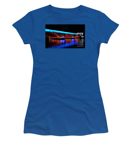 Evening View Of The Love River And Illuminated Bridge Women's T-Shirt