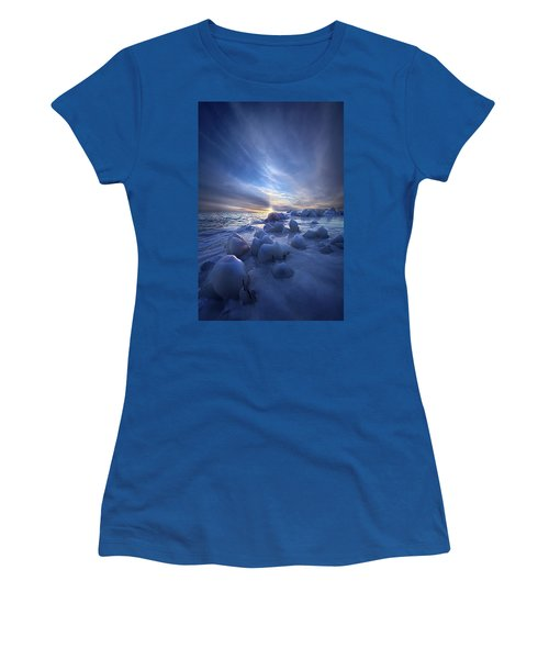 Women's T-Shirt featuring the photograph Letting Go by Phil Koch