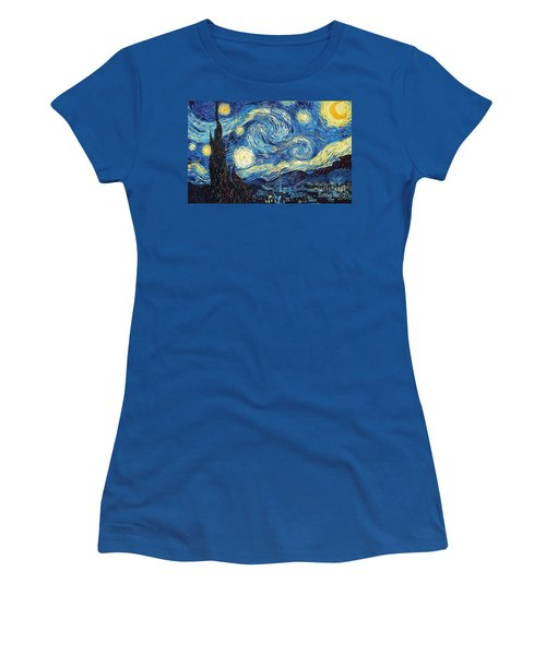 Starry Night By Van Gogh Women's T-Shirt