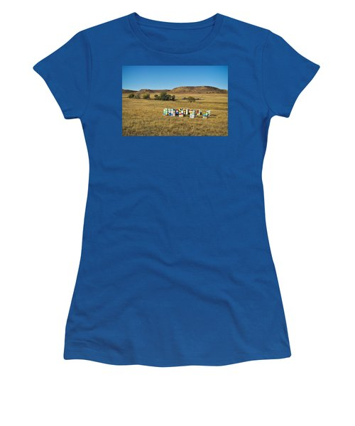 Women's T-Shirt featuring the photograph A Great Place To Bee by Carl Young