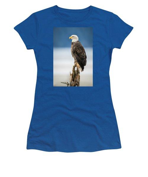 Bald Eagle On Snag Women's T-Shirt