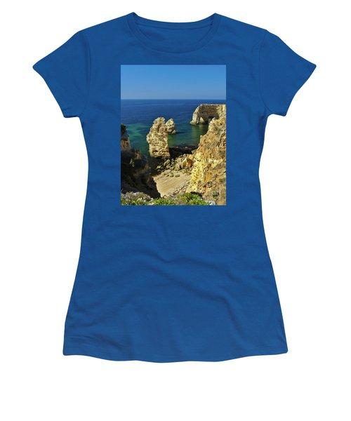 Beautiful Marinha Beach From The Cliffs Women's T-Shirt