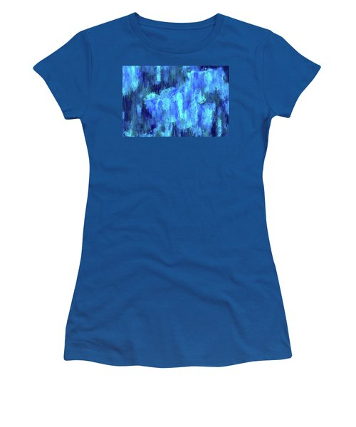 Blue Tulips On A Rainy Day Women's T-Shirt