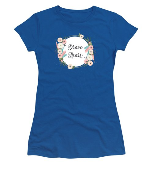 Brave Heart - Boho Chic Ethnic Nursery Art Poster Print Women's T-Shirt