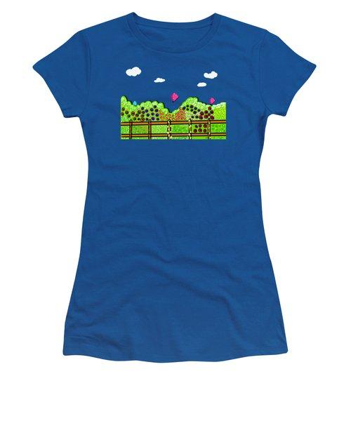 Butterflies And Flowers Women's T-Shirt
