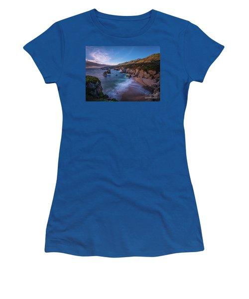 California Big Sur Evening Coastal Tranquility Women's T-Shirt