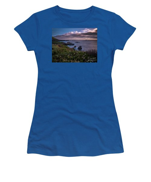 California Coast Dusk Wildflowers Women's T-Shirt