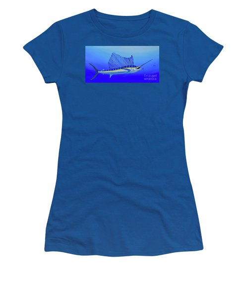Women's T-Shirt featuring the painting Catch Me If You Can by Mary Scott