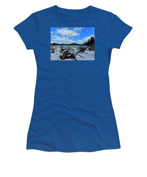 Women's T-Shirt featuring the photograph Fallen Timber by Dan Miller