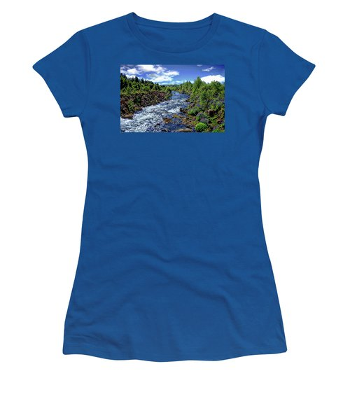 Women's T-Shirt (Athletic Fit) featuring the photograph Flowing Stream by Anthony Dezenzio