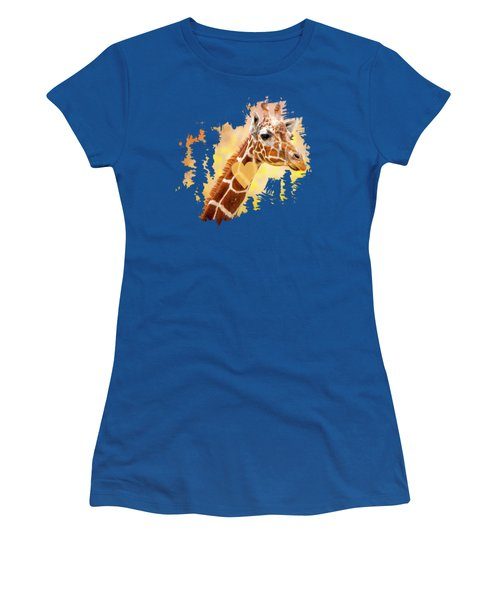 Giraffe, Animal Decor, Nursery Decor,  Women's T-Shirt