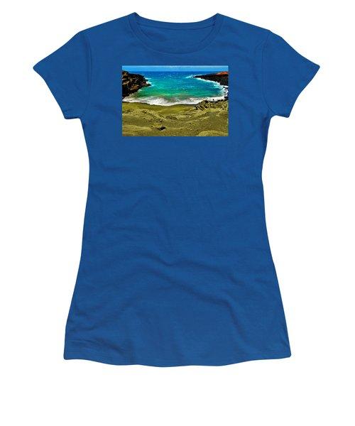 Green Sand Beach Women's T-Shirt