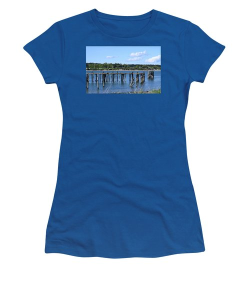 Guemes Island And Old Pier Women's T-Shirt